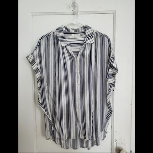 Madewell Central Drapey Shirt in Fairborn Stripe